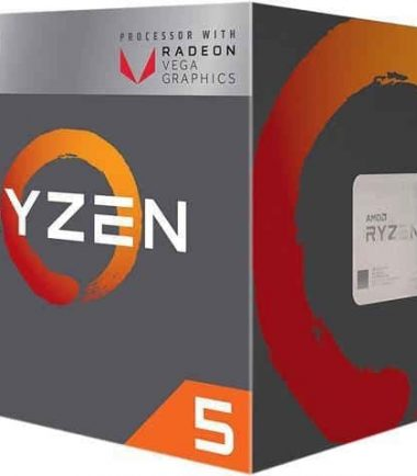 AMD RYZEN 5-2400G (3.6 up to 3.9Ghz) Quad Core AM4