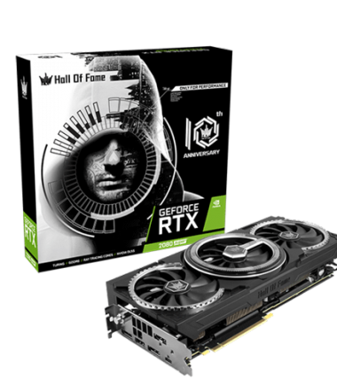 GALAX Geforce RTX 2080 SUPER 8GB DDR6 - HOF (HALL OF FAME) 10th Anniversary Black Edition - RGB Effect - Triple Fan - Garansi 2 Thn